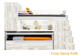 Cross Ranza (MDF) Antik Beyaz